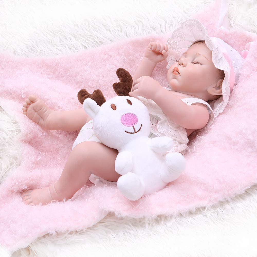 16in Sister Doll Newborn Babies Silicone Vinyl Reborn Baby Dolls Toy Gift 22in
