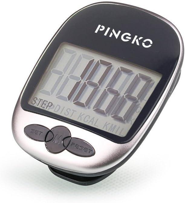 PINGKO Pedometro Contapassi Conta Passi Accuratamente Contapassi Sportivo Portatile Passi//Distanza//Calorie//Contapassi per Fitness Contatore di Calorie
