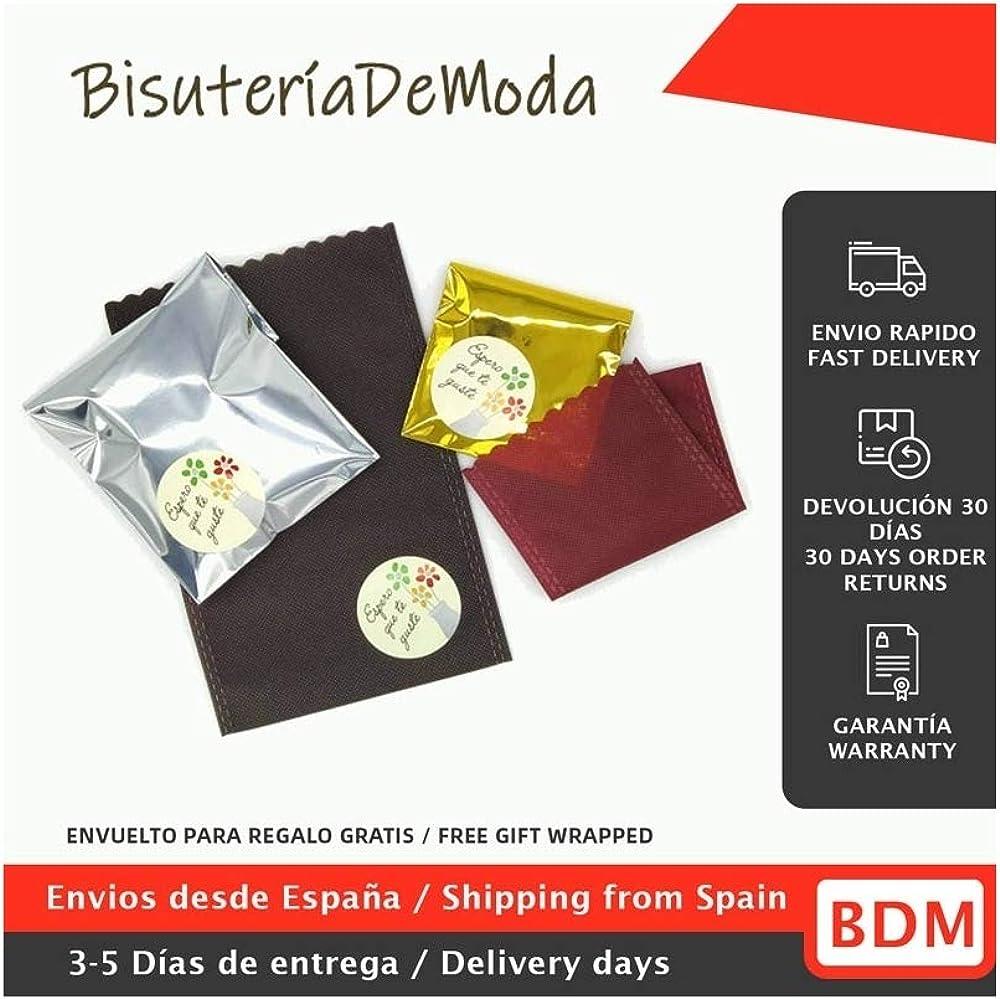 BDM Monedero con Dos Cremalleras para Monedas Ideal para Mujer y ni/ña Color Rosa y de Tela.