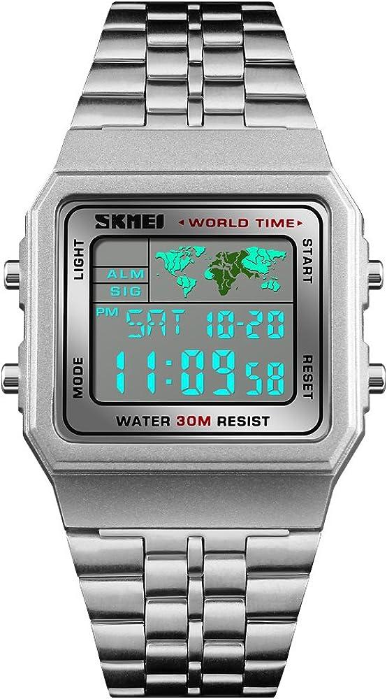 Reloj digital de cuarzo para hombre y niño, reloj deportivo con ...