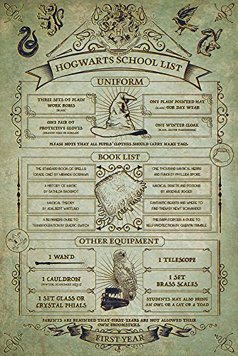 Harry Potter Hogwarts School List Maxi Poster 61 x 91.5cm