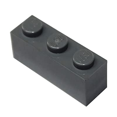 LEGO Parts and Pieces: Dark Gray (Dark Stone Grey) 1x3 Brick x100: Toys & Games