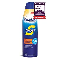 Coppertone SPORT Continuous Sunscreen Spray Broad Spectrum SPF 30 (5.5 Ounce) (Packaging may vary)