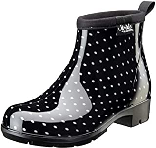 product image for Sloggers 5413BP09 Women's Half Woman's Waterproof Boot, 9, BLK/WHT Polka DOT