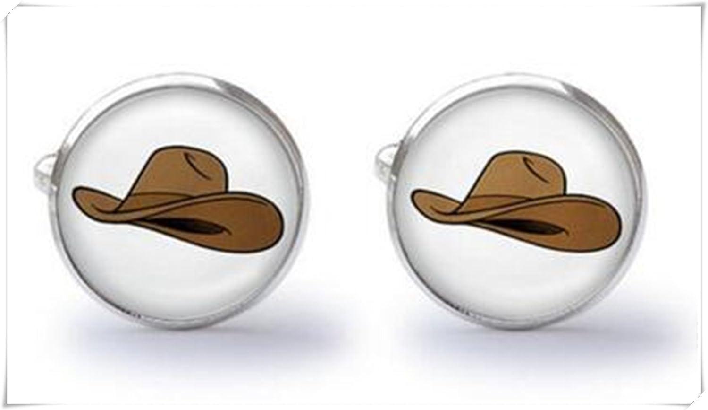 Gemelos de sombrero de vaquero - Western Gemelos: Amazon.es: Joyería