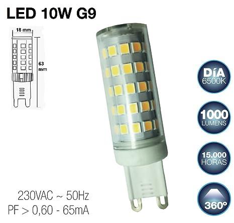 Bombilla G9 LED 10W (luz día)