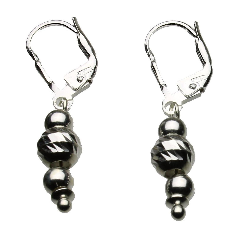 Amazon Sterling Silver Leverback Earrings Diamond Cut Moon
