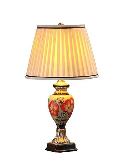 MOMO Luz de Lectura Ideal - Lámpara de Mesa rústica Pintada ...