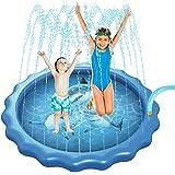 Sprinkler for Kids, Splash Pad,68 Inches Wading Pool for Learning,Outside Water Sprinkler Water Toys for Kids,Portable…