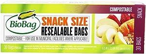BioBag Snack Food Storage Bags, Pack of 30