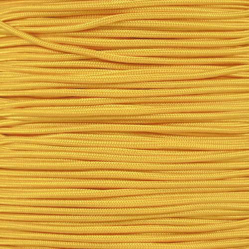 PARACORD PLANET Tactical 5-Strand Nylon Core 275-LB Tensile Strength Paracord Rope 3/32 Inch (2.38mm Diameter) (Yellow, 50 Feet)