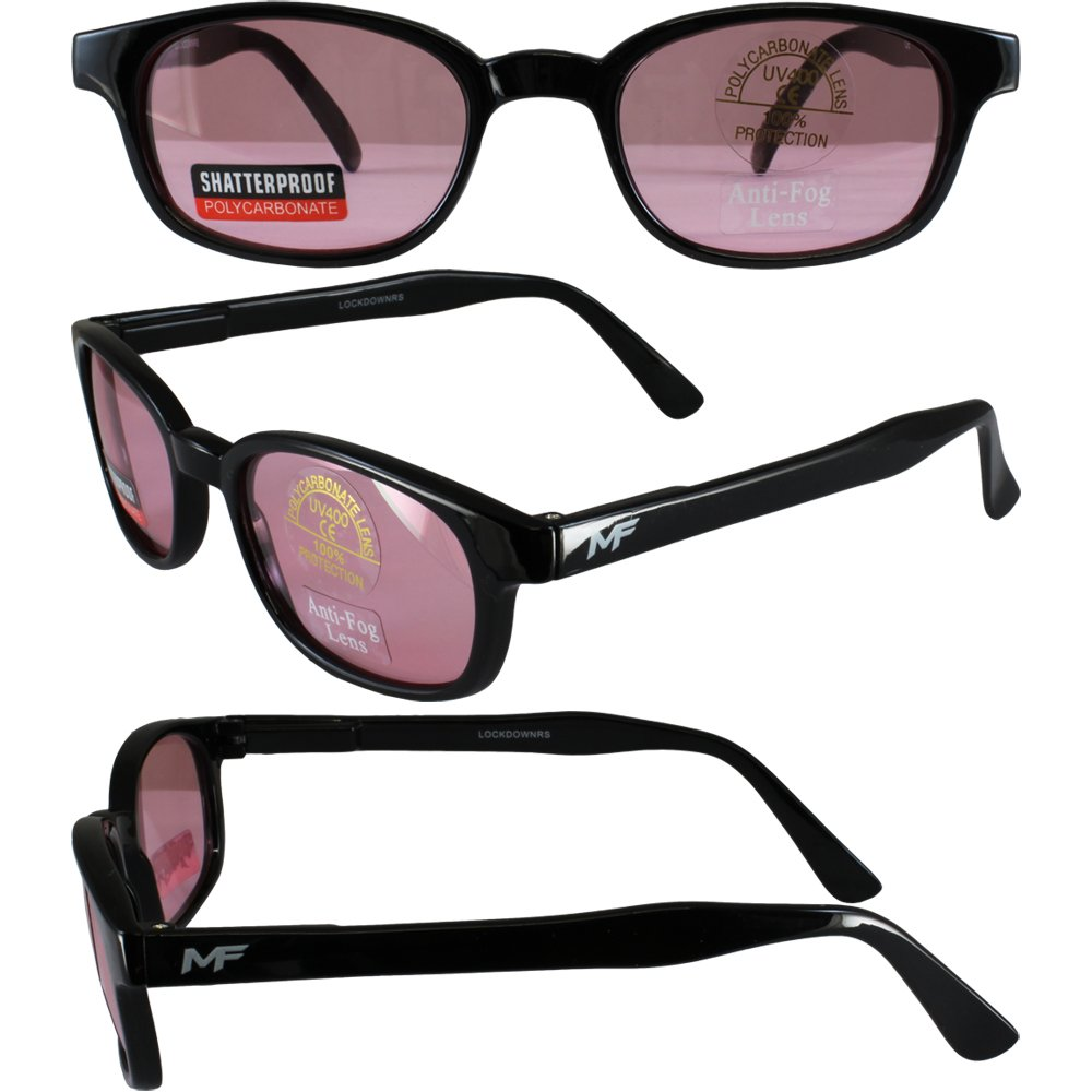 Lockdown Black Frame Rose Lenses