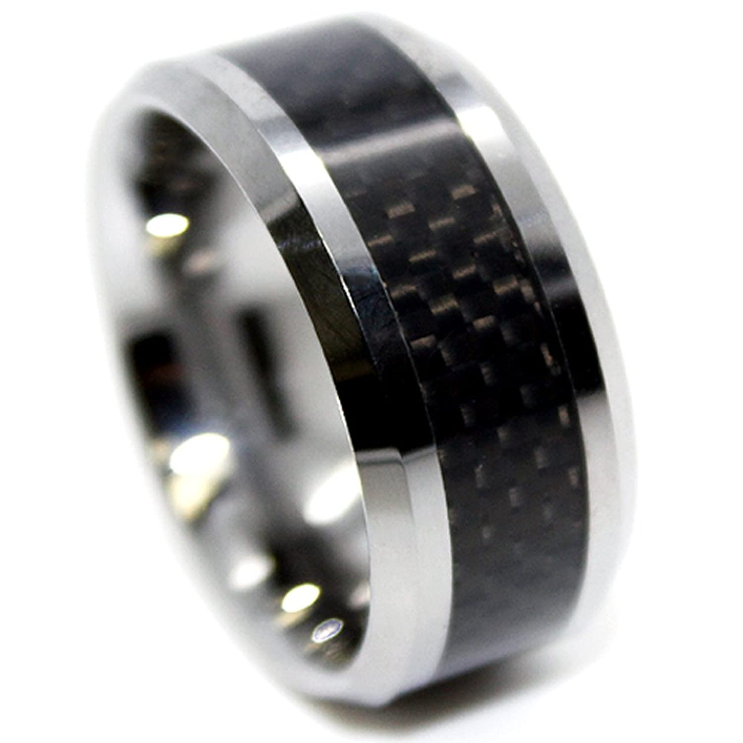 wedding fiber black water and titanium unique resistant carbon rings set of hypoallergenic pin two modern bands