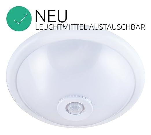Lámpara de techo lámpara de techo con detector de movimiento (2 x E27 Weis con