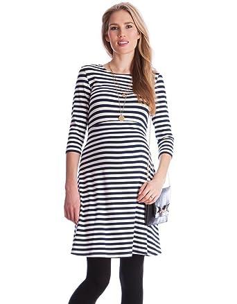 96fdbb5fe18bb Seraphine Women s Striped Maternity   Nursing Dress at Amazon ...