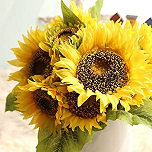 Fangfang Artificial Sunflowers Flowers Bouquet For Home Decoration Wedding Decor 51
