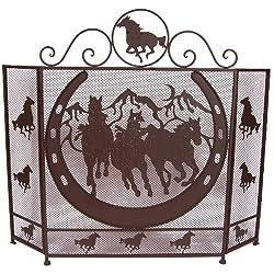 Ll Home Metal Horse Fire Screen by Marco International, Inc.