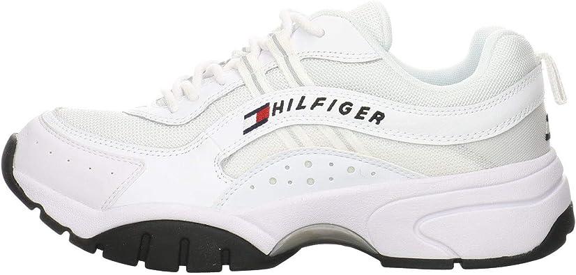 Tommy Jeans Heritage Runner Zapatillas Blancas para Hombre-UK 6.5 / EU 40: Amazon.es: Zapatos y complementos