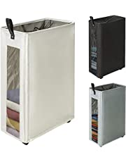 ZERO JET LAG XL Large Laundry Hamper Oversize Tall Laundry Basket Clear Window Fabric Laundry Bin