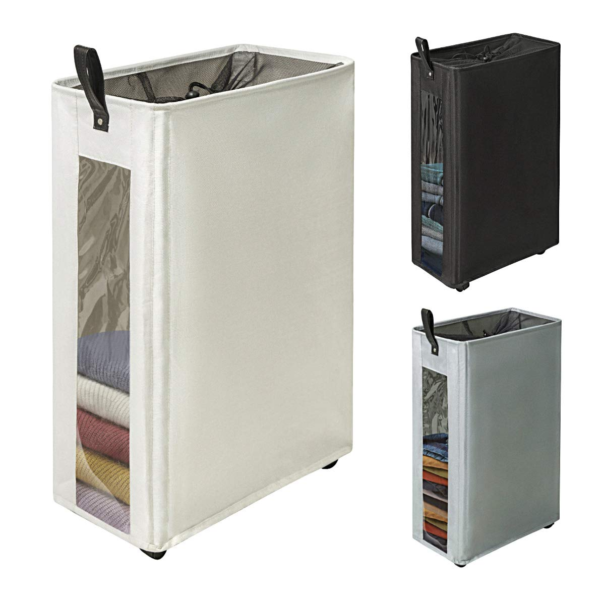 Zero Jet Lag 27 Quot Slim Laundry Hamper Large Tall Laundry