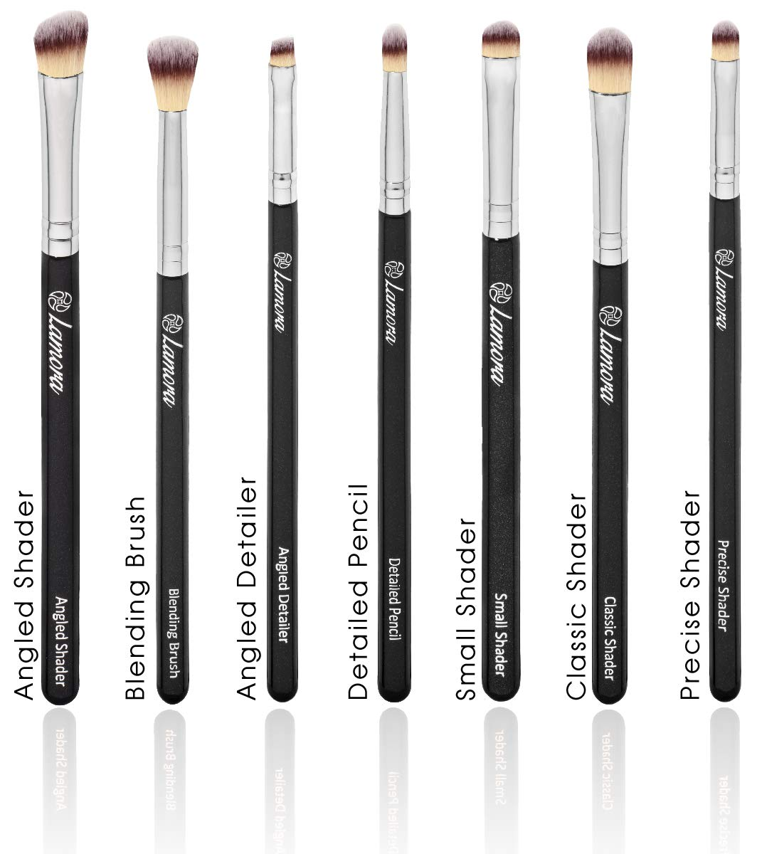 Amazon.com: Makeup Eye Brush Set - Eyeshadow Eyeliner Blending Crease Kit - Best Choice 7 Essential Makeup Brushes - Pencil, Shader, Tapered, Definer - Last ...