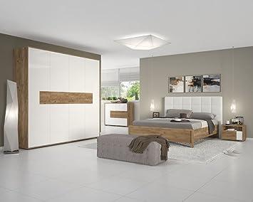 Schlafzimmer Komplett - Set A Manase, 5-teilig, Farbe: Eiche Braun ...