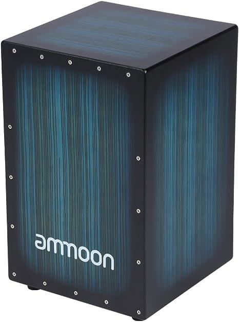 ammoon Cajón Caja de Madera Tambor de Mano Instrumento de ...