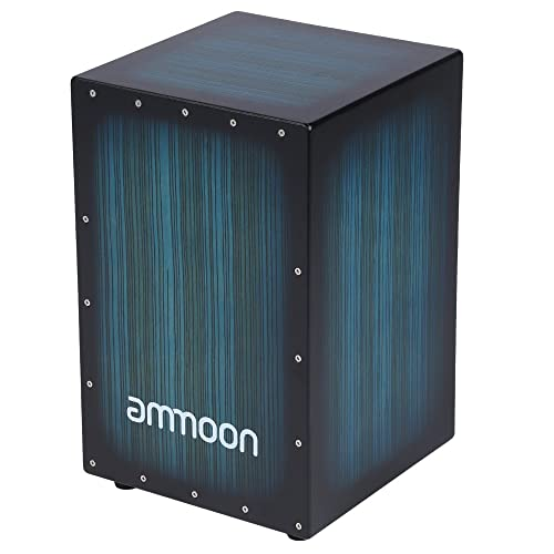 ammoon Drum Cajon Wooden Box Hand Drum Persussion Instrument