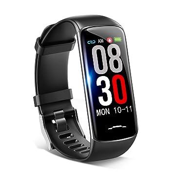 2d71fede8d Amazon | スマートウォッチ 2019 最新版 血圧計 心拍計 活動量計 歩数計 ...