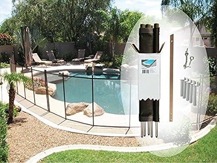 Amazon pool fence diy by life saver fencing section kit 4 x amazon pool fence diy by life saver fencing section kit 4 x 12 feet black swimming pool covers garden outdoor solutioingenieria Images