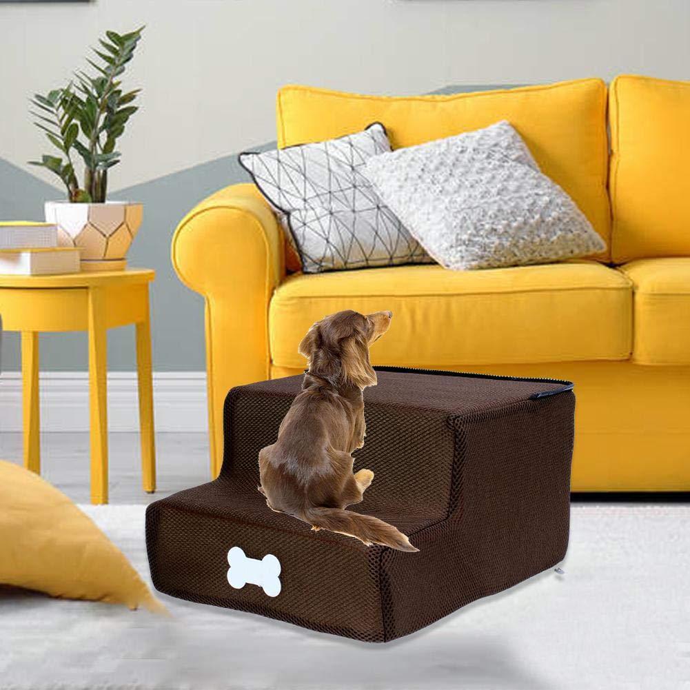 Escalera Para Perros Escaleras Para Mascotas Paso Para Escalar Mascotas Paso De Malla De Esponja Paso Para Escaleras De 2 Capas Para Perros