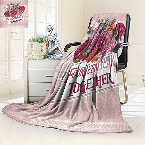 Nalahomeqq Pink Blanket Fourteen Years Together th Anniversa