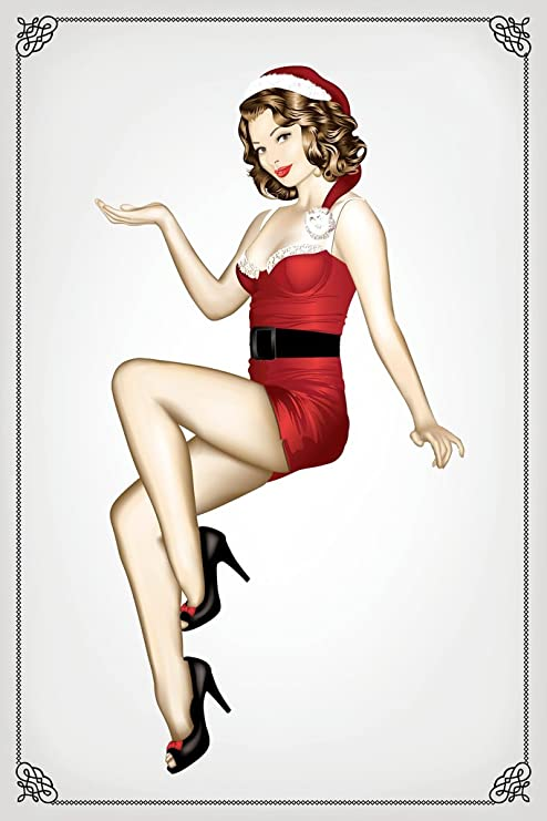 Pinup Girl Canvas Vintage Poster Classic Art Prints 8x12 24x36 inch Wall Decor