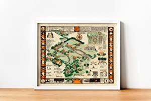 MG Global Map of Syracuse University Campus in 1928  Graduation Gifts  Syracuse University Wall Art Print  Canvas Print Wall Decor  Pull Down Map   Unframed Wall Art