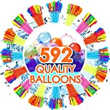 FEECHAGIER Water Balloons for Kids Girls Boys Balloons Set Party Games Quick Fill 592 Balloons for Swimming Pool Outdoor Summer Funs 5y