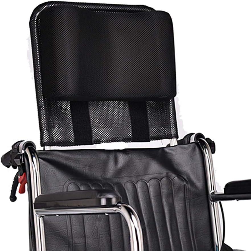 "B07L4DCJB4 MYBOW Wheelchair Neck Support Headrest Padding Portable Head Neck Rest Cushion Back Extension Headrest Pillow for Adults Travel Wheelchair Accessories (16-20"" Universal - Black) 61FmB4ewLNL"