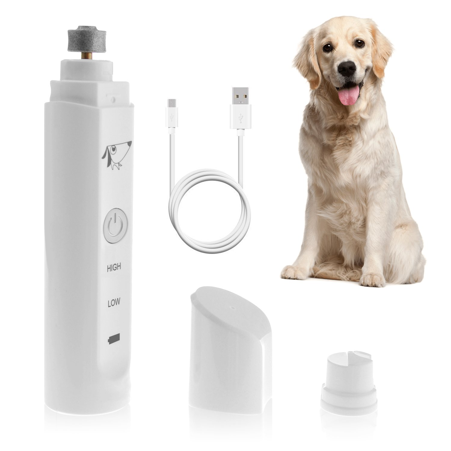 Rechargeable Electric Pet Nail Grinder Dogs Cats Other Small Medium Large Pets USB Charging