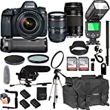 Canon EOS 6D Mark IIWith 24-105mm f/4 L IS II USM + 75-300mm III Lenses + 128GB Memory + Canon Camera Bag + Pro Battery Bundle + Power Grip + Microphone + TTL SpeedLight + Pro Filters,(24pc Bunle)