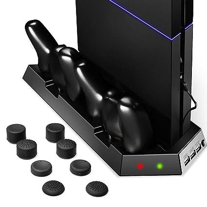 [Mejor estación de enfriamiento Sistema] Zolion refrigerador del ventilador para PS4 Playstation, DualShock 4 controladores con cargador doble puertos ...