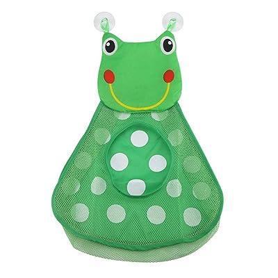 Baño juguete bolsa de almacenamiento - linda animales Pastable baño organizadores de juguete, multifuncional bolsa de almacenamiento, Cultivar habilidades de organización para el bebé (rana verde): Hogar