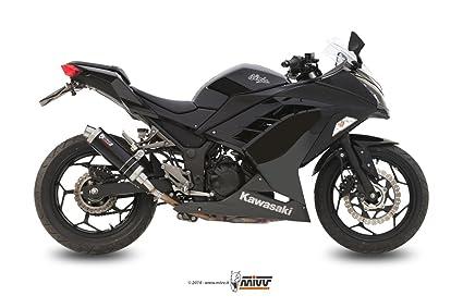 KAWASAKI NINJA 300 2014 MIVV ESCAPES GP BLACK NEGRO: Amazon ...