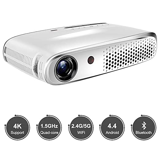 QLPP Mini proyector LED con 20.000-hour LED Vida, Multimedia ...