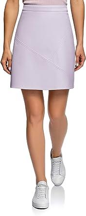 oodji Ultra Womens Faux Leather Trapeze Skirt