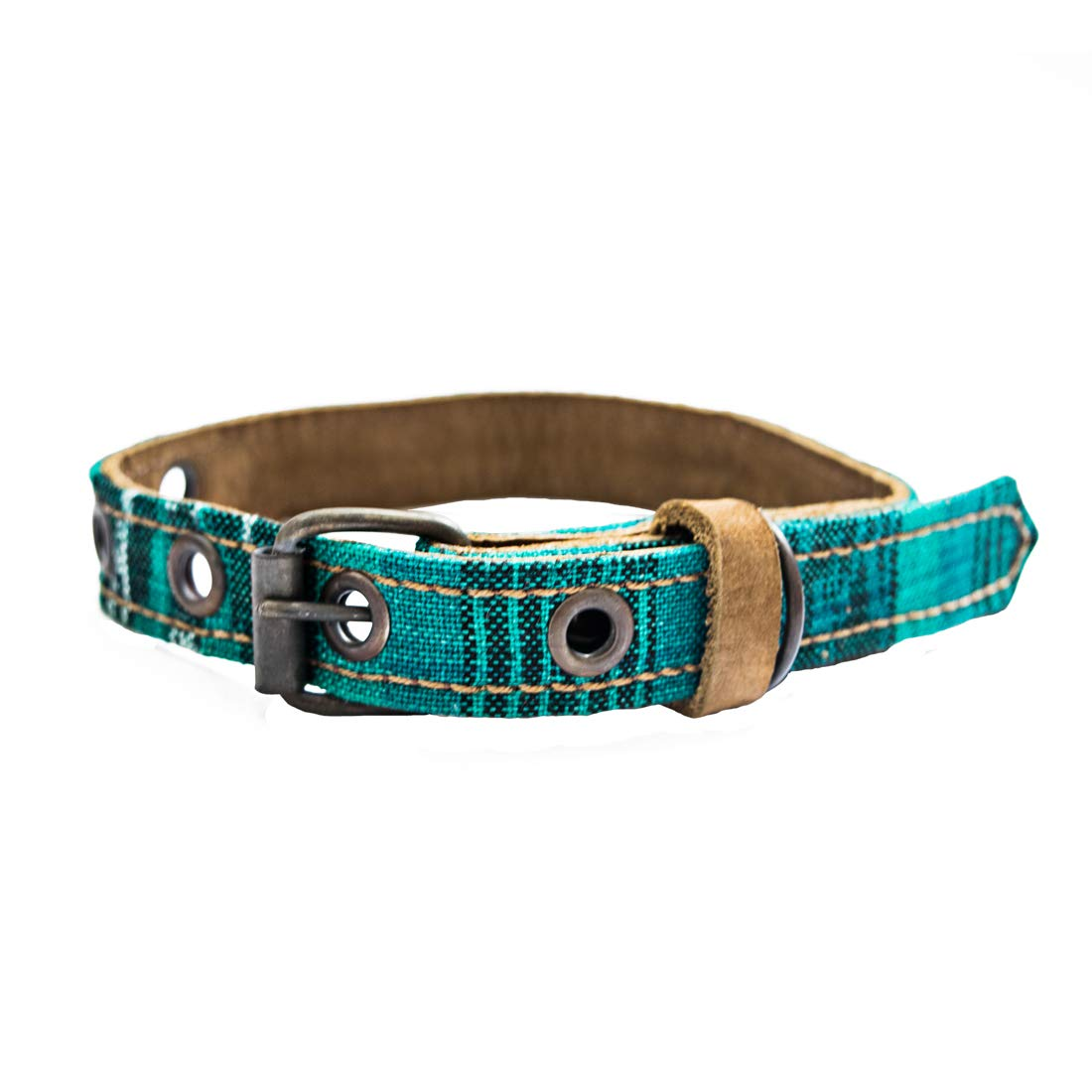 Mayan Pet Collar For Small Size Cats & Dogs (5.75 - 9.75 Inches) Handmade by Hide & Drink :: Tropical Lime by Hide & Drink