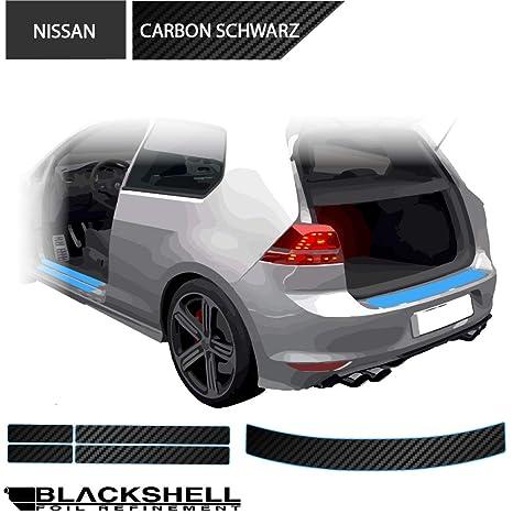 Nissan Qashqai 1 J10 Ladekantenschutz 3D CARBON SCHWARZ