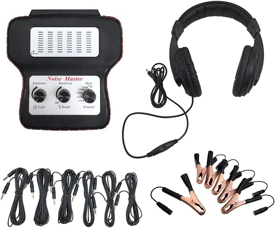 Tickas Estetoscopio electrónico, estetoscopio electrónico Buscador de ruido de automóvil Dispositivo de escucha de diagnóstico Máquina Detector de ruido multicanal Detector de sonido anormal
