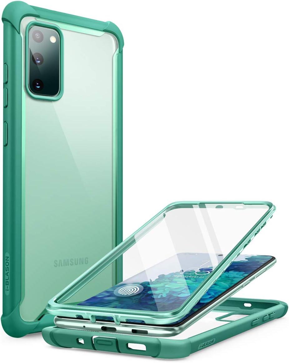 i-Blason Funda Galaxy S20 fe [Ares] Carcasa Resistente Case con Protector de Pantalla Incorporado para Samsung Galaxy S20 FE 5G (2020) (Verde)