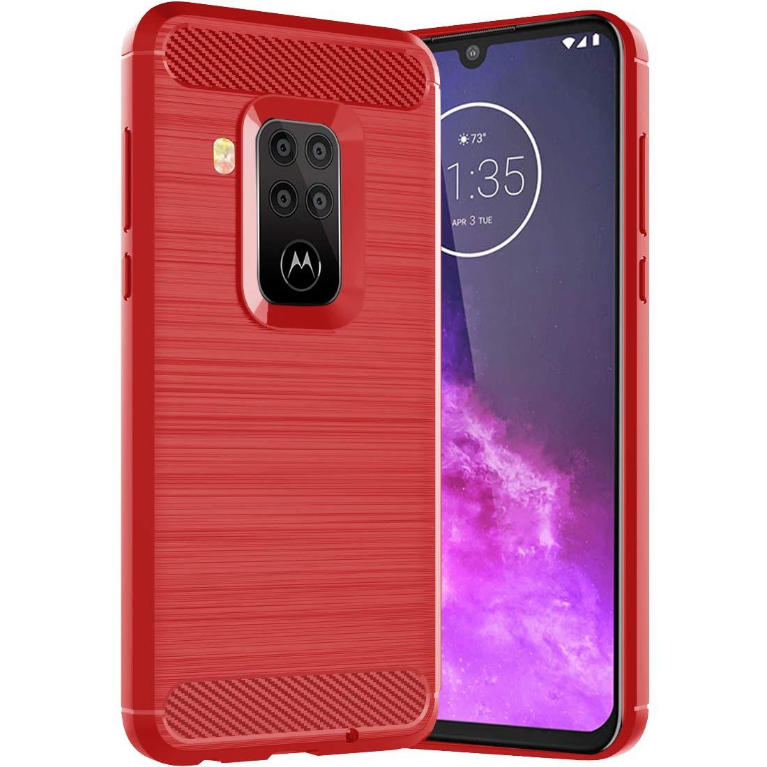 Funda Resistente Para Motorola One Zoom, roja