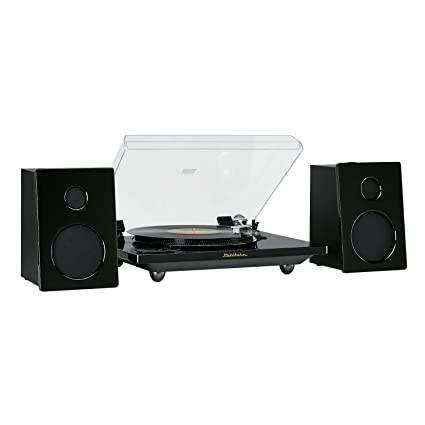 Studebaker Hi Fi Record Player Pro Modern Bluetooth Wireless Turntable  Stereo System With 60 Watts