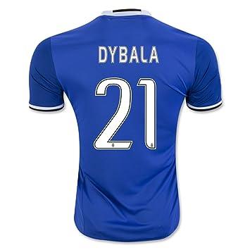 2016 2017 Juventus FC Camiseta de 21 Paulo Dybala Away fútbol fútbol Jersey de flores en